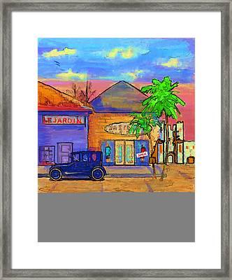 Shopping Trio Framed Print