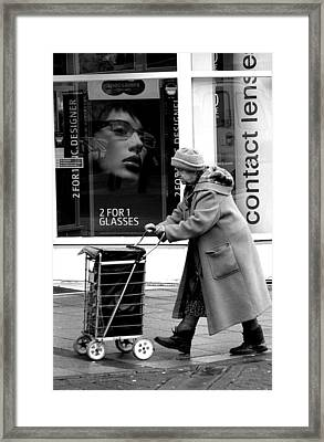 Shopping Trip 2 Framed Print by Jez C Self