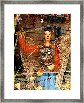 Shop's Angel Framed Print by Mexicolors Art Photography