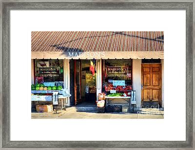 Shops At Cincinnati's Findlay Market # 4 Framed Print by Mel Steinhauer