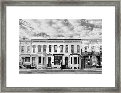 Framed Print featuring the photograph Shops by Mitch Cat