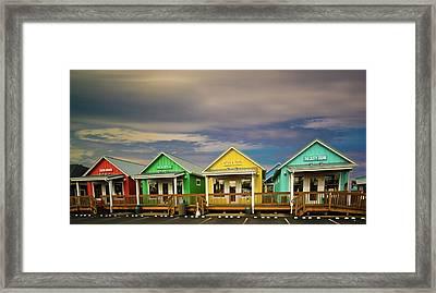 Shops Of Ocean Shores Framed Print