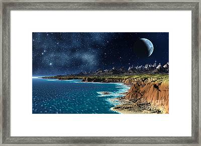 Shore And Ocean Framed Print by Heinz G Mielke