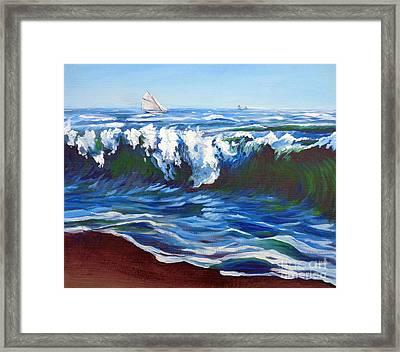 Shore Berm Regatta Framed Print