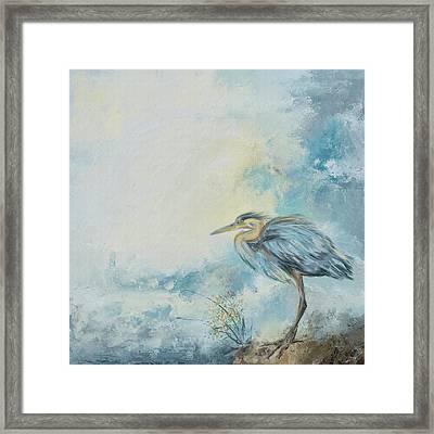 Shore Bird 8664 Framed Print by Jai Johnson