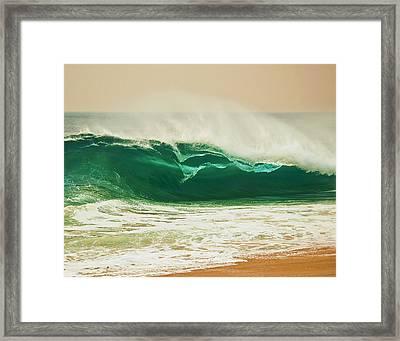 Shore Break Framed Print