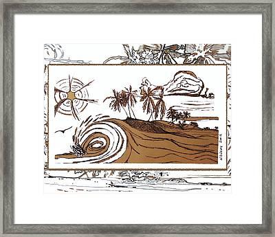 Shore Break Left Framed Print