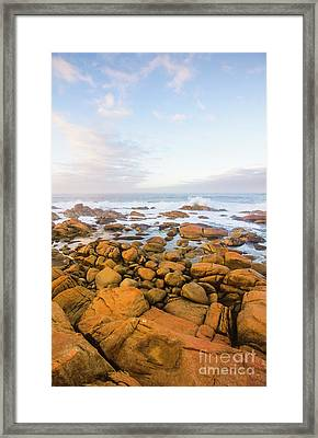 Framed Print featuring the photograph Shore Calm Morning by Jorgo Photography - Wall Art Gallery