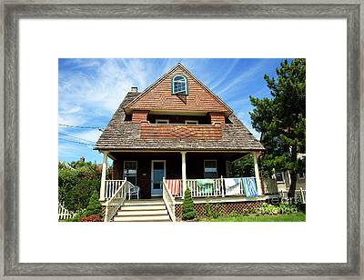Framed Print featuring the photograph Shore House by John Rizzuto