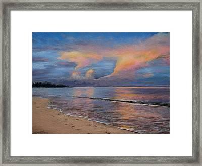 Shore Of Solitude Framed Print by Susan Jenkins