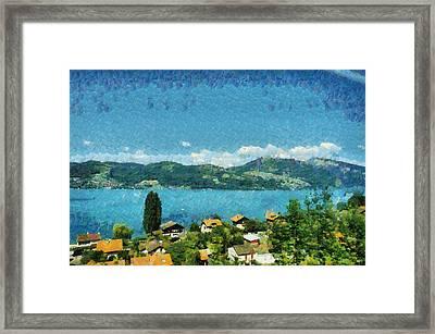 Shore Of The Lake Framed Print
