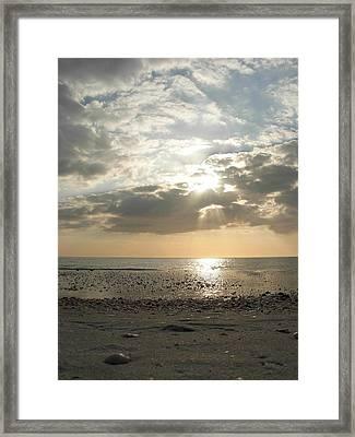 Shore Rays Framed Print