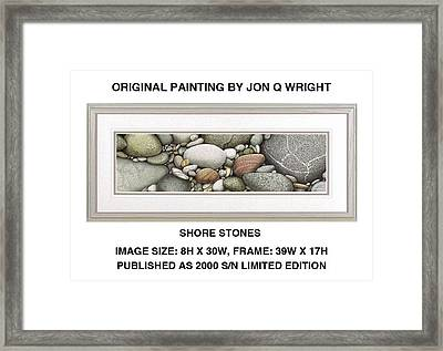Shore Stones Framed Print by Jon Q Wright
