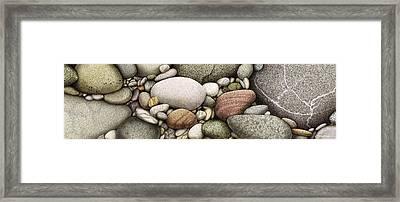 Shore Stones Framed Print by JQ Licensing