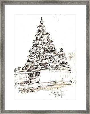 Shore Temple  Framed Print by KaramChand Nanta