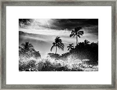 Shorebreak Framed Print