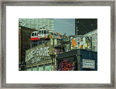 Shoreditch Tubes  Framed Print