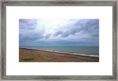 Framed Print featuring the photograph Shoreham Shoreline by Anne Kotan
