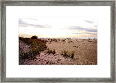 Framed Print featuring the photograph Shoreline At Dusk by Michelle Calkins