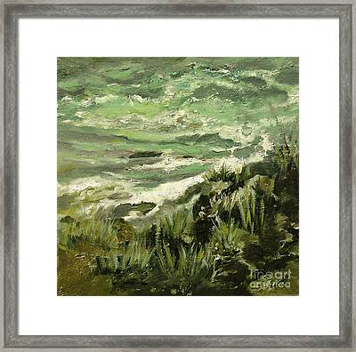 Shoreline IIi Julianne Felton Framed Print by Julianne Felton
