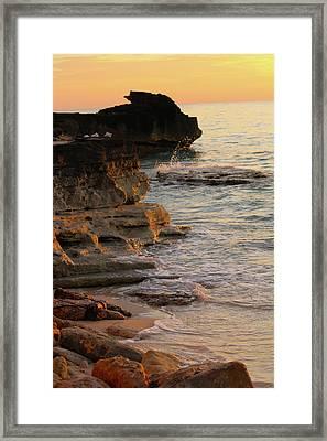 Shoreline In Bimini Framed Print
