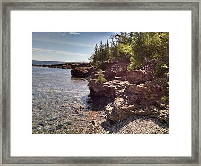 Shoreline In The Upper Michigan Framed Print