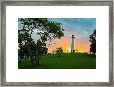 Shoreline Lighthouse Framed Print
