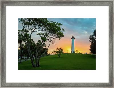 Shoreline Lighthouse Framed Print
