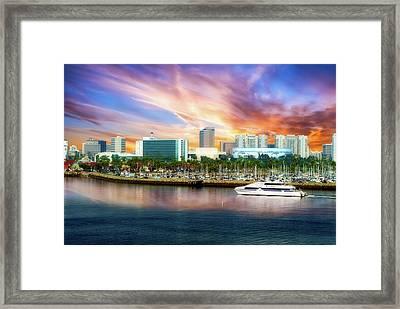 Shoreline Long Beach Ca 09 Framed Print