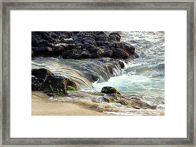 Framed Print featuring the photograph Shoreline by Lori Seaman