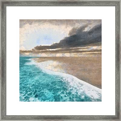 Shoreline Painted Framed Print