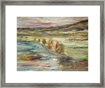 Shoreline Park Framed Print by Edward Wolverton
