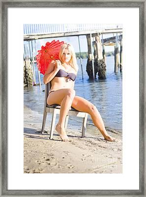 Shoreline Reverie Framed Print