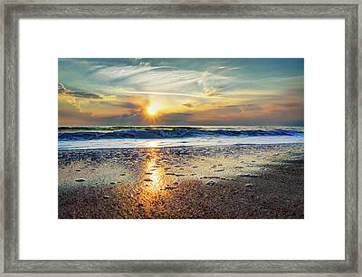 Shoreline Sunrise Framed Print