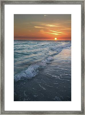 Shoreline Sunset Framed Print