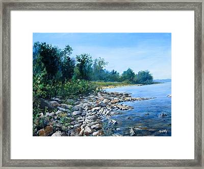 Shoreline Framed Print by William  Brody