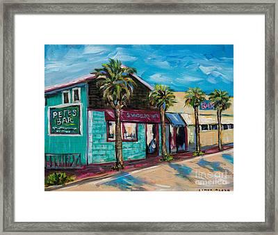 Shorelines Framed Print by Linda Olsen