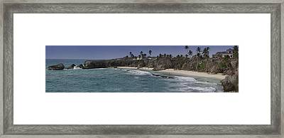 Shores Of Barbados Framed Print by Andrew Soundarajan