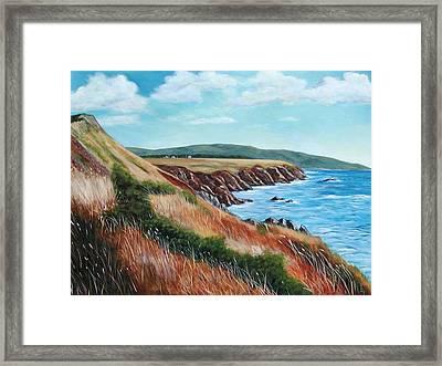 Shores Of Cape Breton Framed Print by Sharon Steinhaus