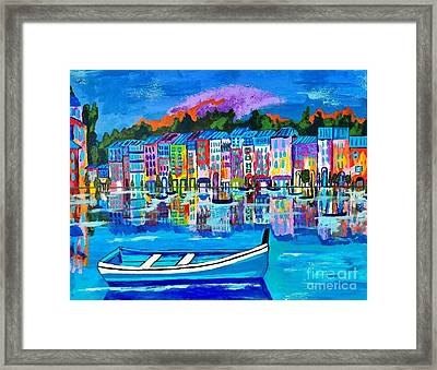 Shores Of Italy Framed Print