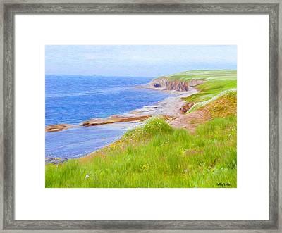 Shores Of Newfoundland Framed Print by Jeff Kolker
