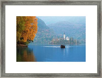 Framed Print featuring the photograph Shorewards by Davor Zerjav