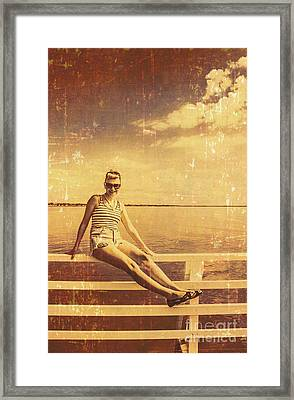 Shorncliffe Pier Pin Up Framed Print
