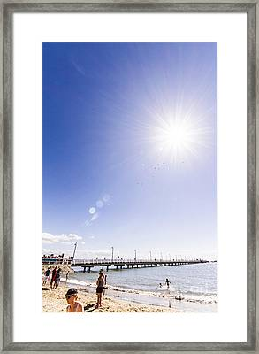 Shorncliffe Pier Shortly After Its Re-opening Framed Print