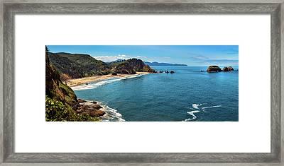 Short Beach, Oregon Framed Print