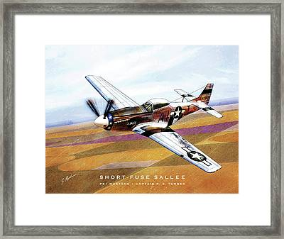 Short-fuse Sallee Framed Print by Gary Bodnar