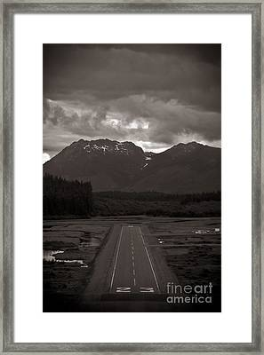 Short Runway Framed Print