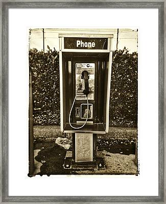 Short Stack Pay Phone Framed Print