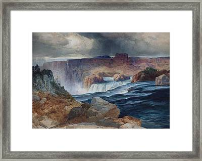 Shoshone Falls Idaho Framed Print by Thomas Moran