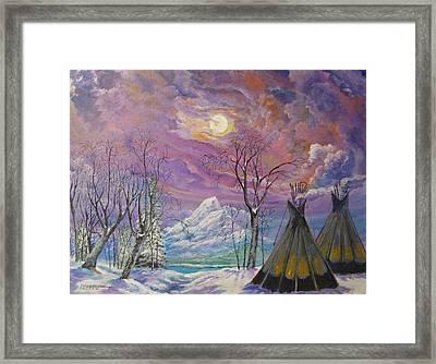 Shoshone Moon Framed Print